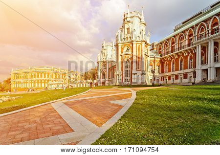 The palace in Moscow museum-reserve Tsaritsyno Russia