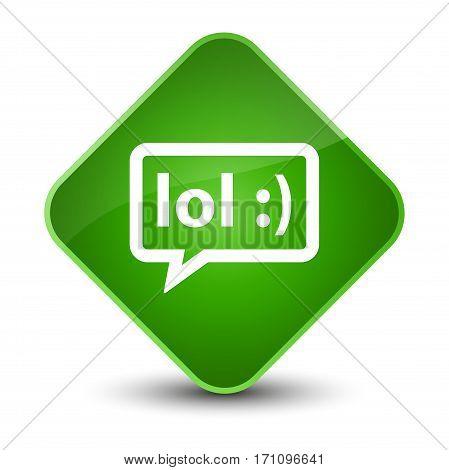 Lol Bubble Icon Special Green Diamond Button