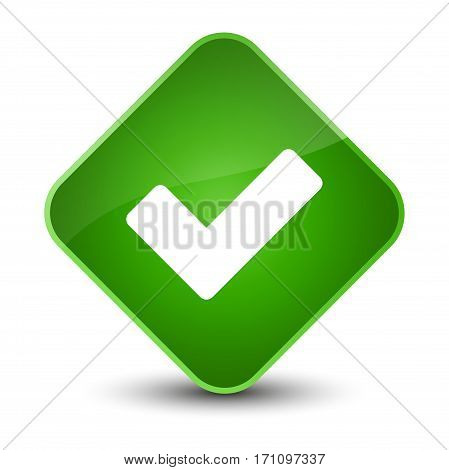 Validate Icon Special Green Diamond Button