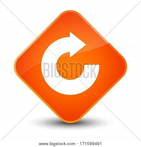 Reply Arrow Icon Special Orange Diamond Button