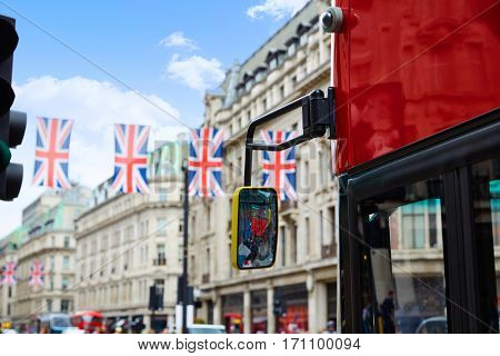 London bus Regent Street W1 Westminster in UK England