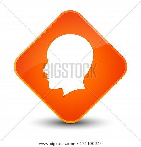 Head Men Face Icon Special Orange Diamond Button