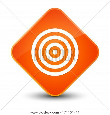 Target Icon Special Orange Diamond Button