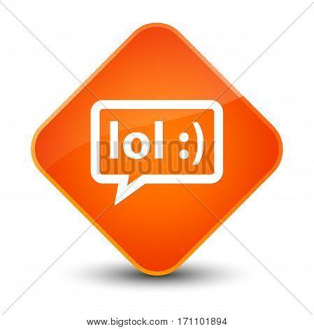 Lol Bubble Icon Special Orange Diamond Button