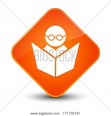 Elearning Icon Special Orange Diamond Button