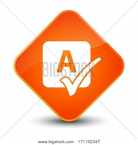 Spell Check Icon Special Orange Diamond Button