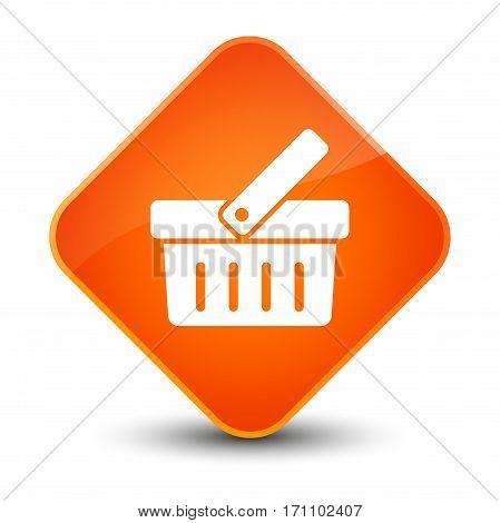 Shopping Cart Icon Special Orange Diamond Button