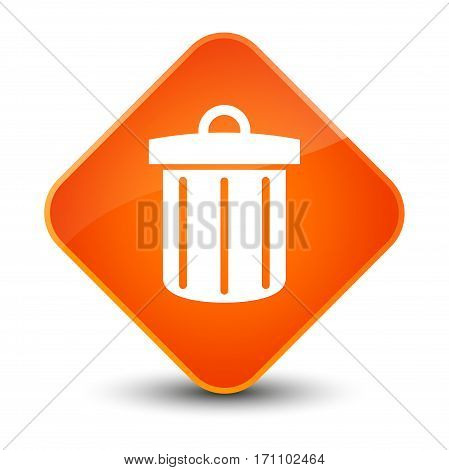 Recycle Bin Icon Special Orange Diamond Button