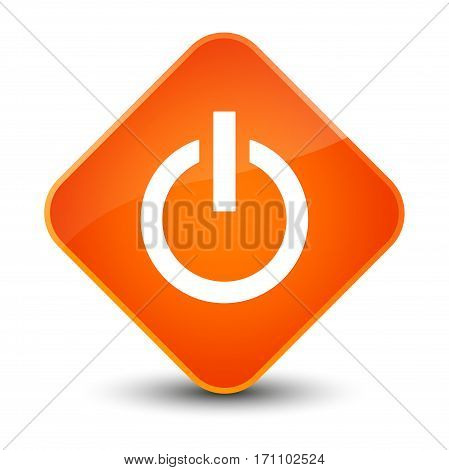 Power Icon Special Orange Diamond Button