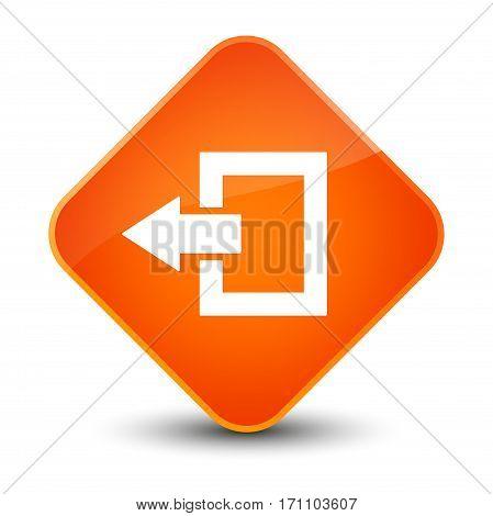 Logout Icon Special Orange Diamond Button