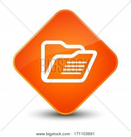 Folder Icon Special Orange Diamond Button