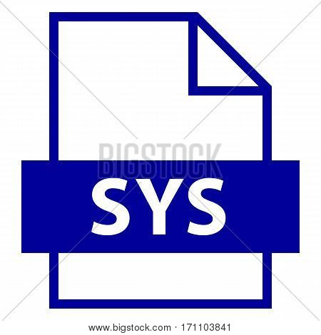 Use it in all your designs. Filename extension icon SYS filename extension in DOS and Windows operating systems in flat style. Vector illustration a graphic element.