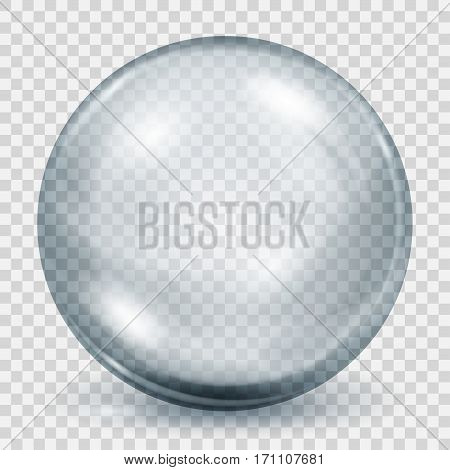 Transparent Gray Sphere With Shadow