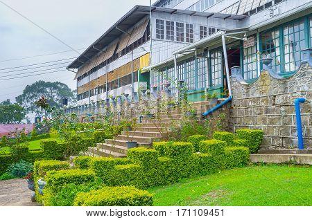 HAPUTALE SRI LANKA - NOVEMBER 30 2016: The view on the main building of Thomas Lipton tea factory on November 30 in Haputale