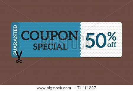 Sale coupon sticker percent discount symbol vector illustration. Premium quality vintage coupon retail advertising element. Promotion ribbon shopping card.