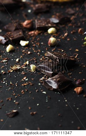 Crumbled Chocolate With Nuts