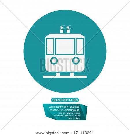 transport funicular cable car passeger pictogram vector illustration eps 10