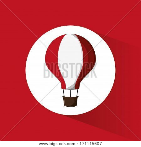 airballoon adventure fly trasnport vector illustration eps 10