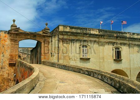 San Cristobal ramp entrance in Old San Juan