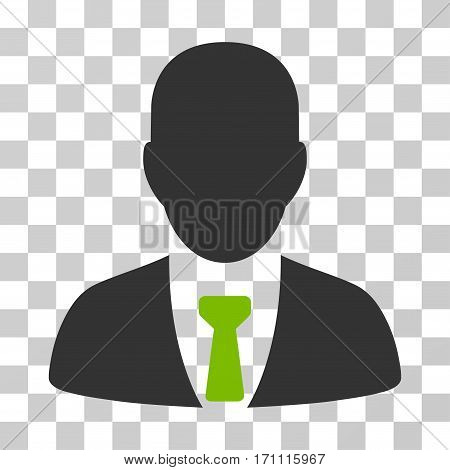 Businessman icon. Vector illustration style is flat iconic bicolor symbol eco green and gray colors transparent background. Designed for web and software interfaces.