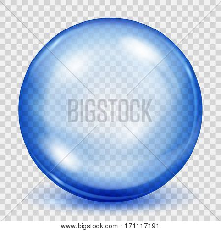 Transparent Blue Sphere With Shadow