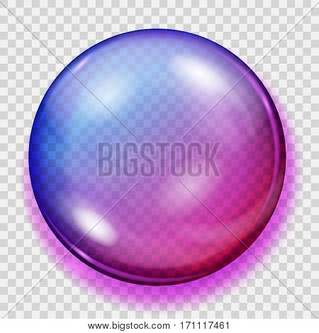 Transparent Purple Sphere With Shadow