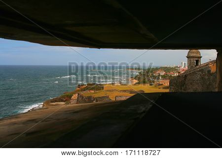 View down coast from San Cristobal pill box
