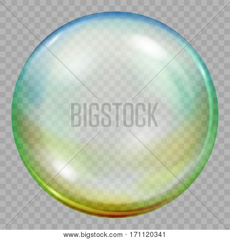 One Big Multicolored Transparent Soap Bubble