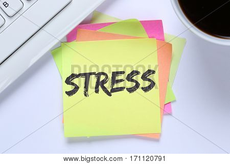 Stress Stressed Burnout At Work Relaxed Desk