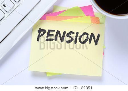 Pension Retirement Business Desk