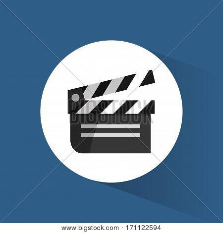 clapper film movie cinema icon vctor illustration eps 10