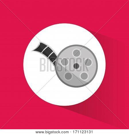 cinema movie reel film icon vector illustration eps 10