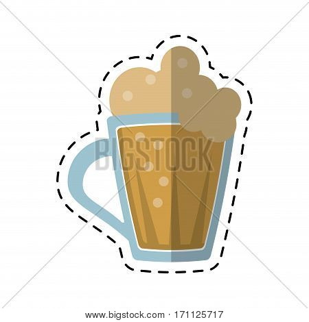 cartoon st patricks day glass beer cold vector illustration eps 10