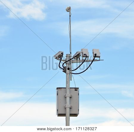 System with cameras for monitoring and generation of fines on roads.