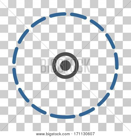 Round Area icon. Vector illustration style is flat iconic bicolor symbol cobalt and gray colors transparent background. Designed for web and software interfaces.