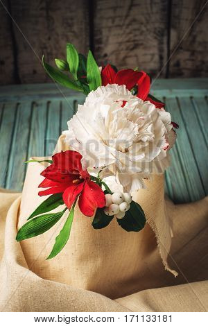 Beautiful Bouquet Roses From Mastic, Good Flowers Made Of Sugar