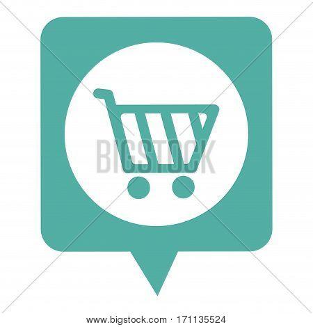 dialogue callout box with shopping cart vector illustration vector illustration