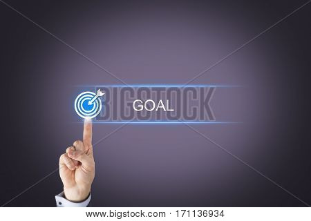 Human Hand Touching Goal Solution Concepts on Visual Screen