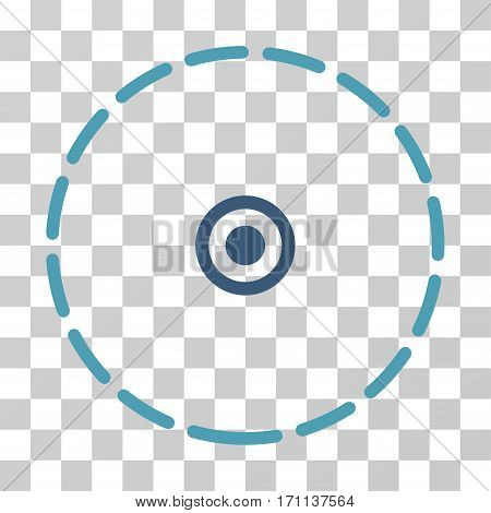 Round Area icon. Vector illustration style is flat iconic bicolor symbol cyan and blue colors transparent background. Designed for web and software interfaces.