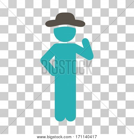Gentleman Proposal icon. Vector illustration style is flat iconic bicolor symbol grey and cyan colors transparent background. Designed for web and software interfaces.