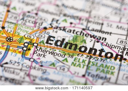 Edmonton, Canada On Map
