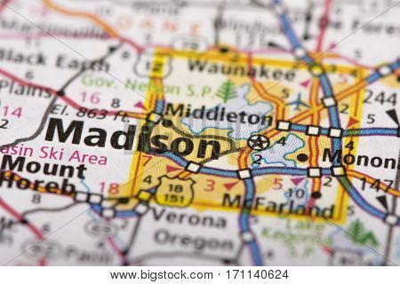 Madison, Wisconsin On Map