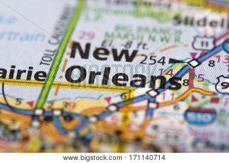 New Orleans, Louisiana On Map