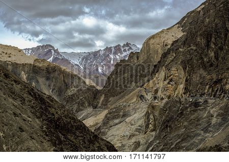 Moonland Landscape In Lamayuru At Ladakh, India , Himalayan Mountain Background, Ladakh,jammu And Ka