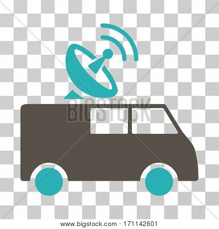 Radio Control Car icon. Vector illustration style is flat iconic bicolor symbol grey and cyan colors transparent background. Designed for web and software interfaces.