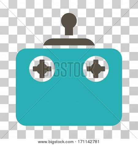 Remote Control icon. Vector illustration style is flat iconic bicolor symbol grey and cyan colors transparent background. Designed for web and software interfaces.