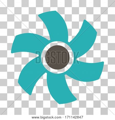 Rotor icon. Vector illustration style is flat iconic bicolor symbol grey and cyan colors transparent background. Designed for web and software interfaces.