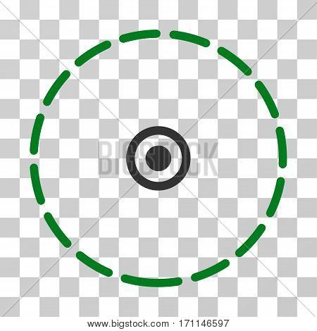 Round Area icon. Vector illustration style is flat iconic bicolor symbol green and gray colors transparent background. Designed for web and software interfaces.