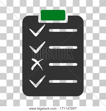 Task List icon. Vector illustration style is flat iconic bicolor symbol green and gray colors transparent background. Designed for web and software interfaces.