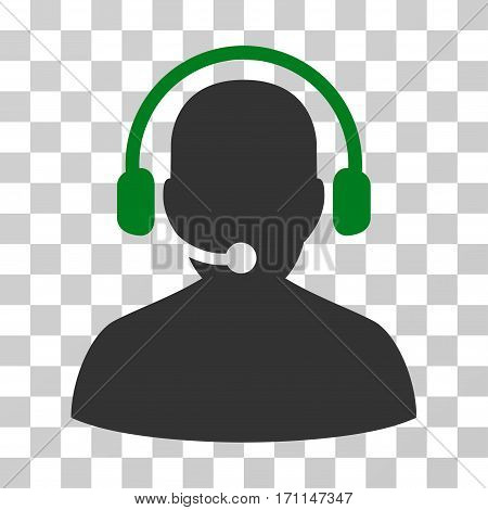 Telemarketing icon. Vector illustration style is flat iconic bicolor symbol green and gray colors transparent background. Designed for web and software interfaces.